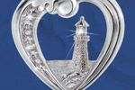 Thomas Kinkade Beacon Of Hope Lighthouse Pendant Necklace Thumbnail