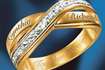 Eternity Personalized Double Band Diamond Ring Thumbnail